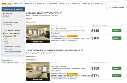 """With at least 9 rooms available in both """"standard"""" bed categories, I would certainly think a late checkout tonight wouldn't be a problem!"""