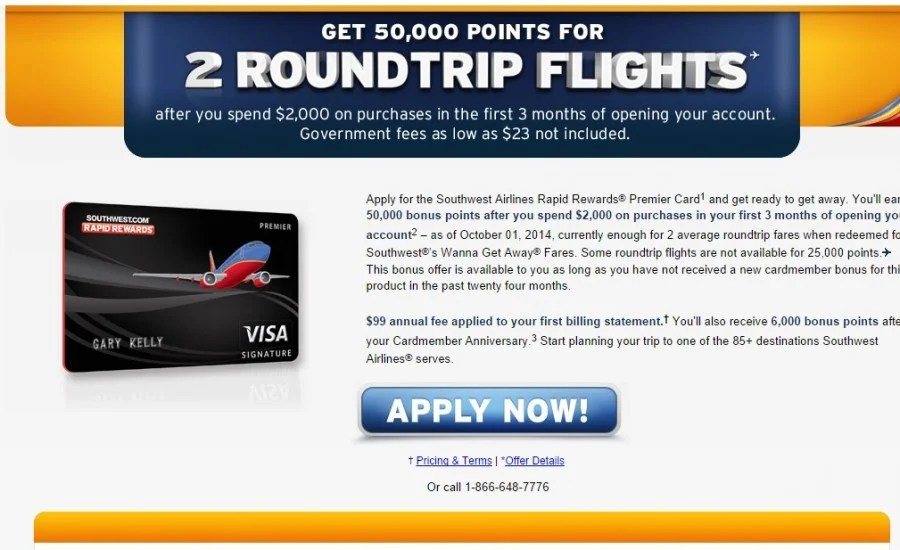 50 000 Points Sign Up Bonus for Southwest Cards Is BackThe