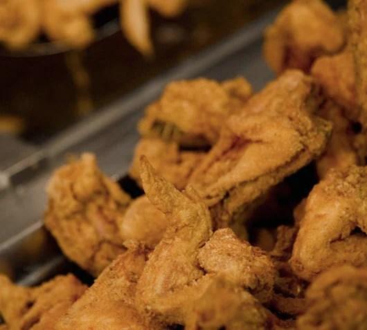 Fried chicken wings galore at Paula Deen's landmark restaurant.