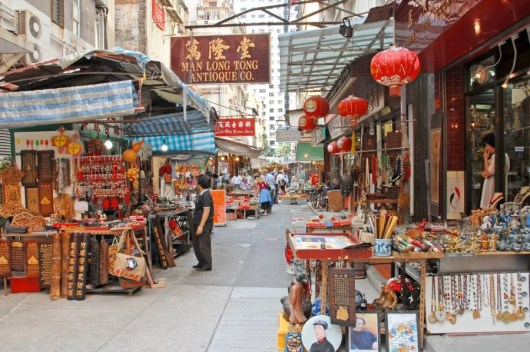 Visit one of Hong Kong's markets during your layover. Photo courtesy of Shutterstock.