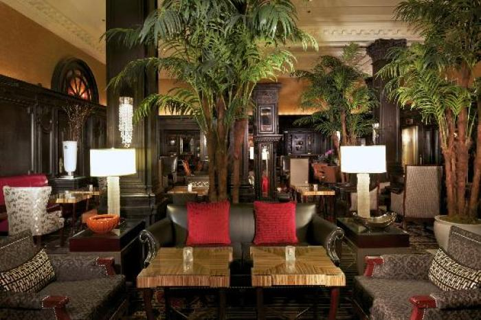 Elegant lobby of the legendary Algonquin Hotel