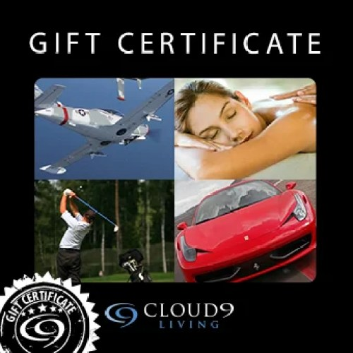 Gift certificates for Cloud 9 Living's travel experiences start at $50.