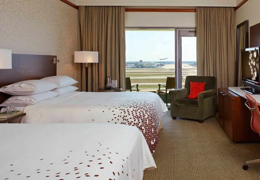 Runway View Guest Room at the Renaissance Concourse Atlanta Airport Hotel.