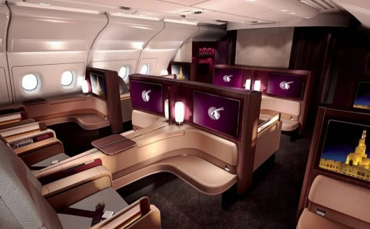 Qatar's A380 first class is only 40,000 miles one-way from London-Doha.