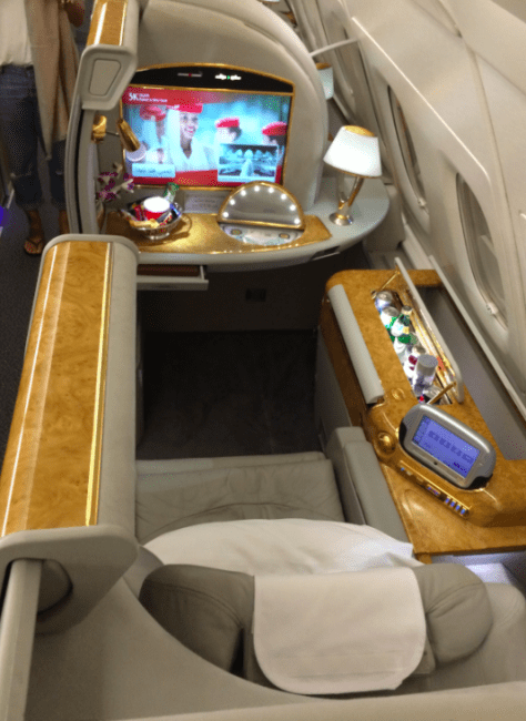 Emirates First Class on the A380