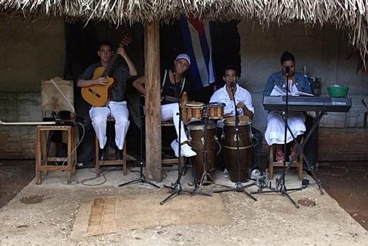 This band at El Canonazo was planning Gauntanamera, my favorite Cuban song