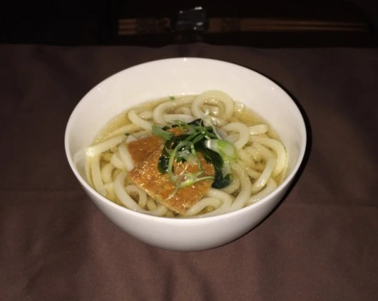 This simple bowl of udon noodles tasted amazing