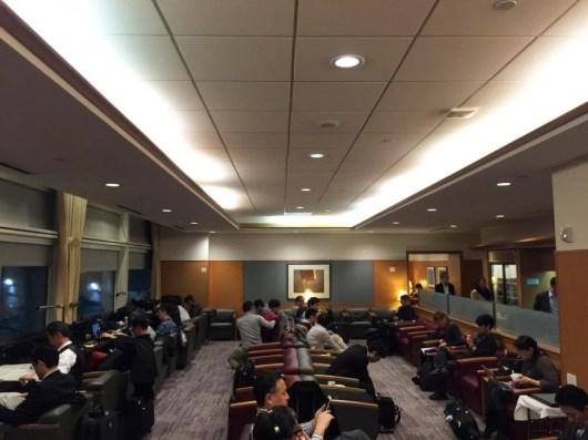 JAL's sad, sad Sakura Lounge at SFO