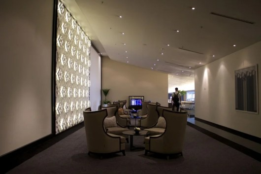 One of the well-appointed lounge areas.