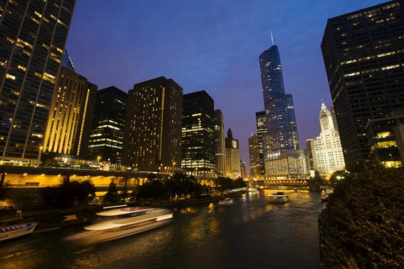 Chicago by night (Photo courtesy of Adam Alexander Photography via ChooseChicago.com)