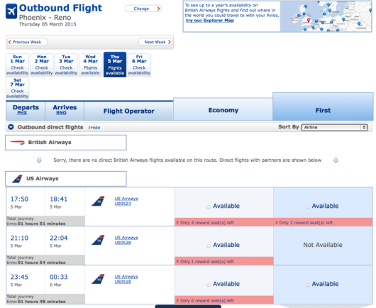 You can once again book US Airways awards through the British Airways website.