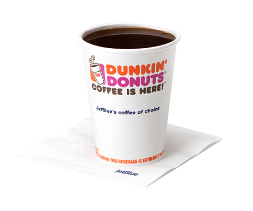 "JetBlue doesn't necessarily ""run on Dunkin,"" but you can still enjoy it onboard!"