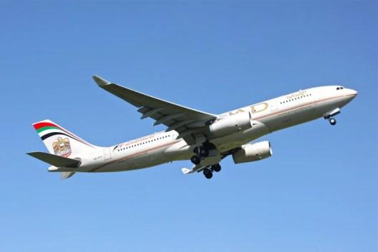 Earn double miles on Etihad flights. Photo courtesy of Shutterstock.