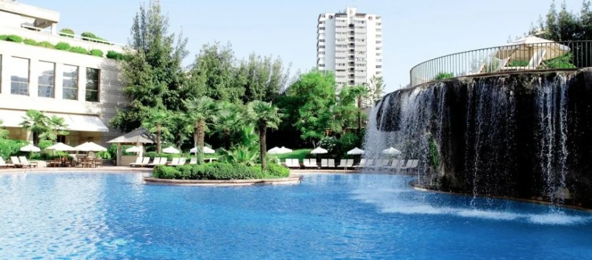 The outdoor pool at the Grand Hyatt Santiago gives you a great spot to relax