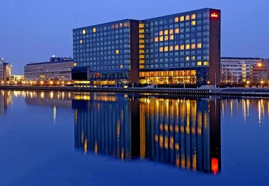 Consider staying at the Copenhagen Marriott, which is a Category 8 property.