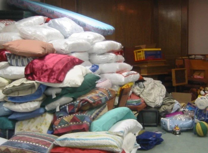 Donated items require storage and are difficult to transport.