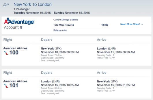 Off-peak to London for just 40,000 miles round-trip is a great deal, but is it better than TBD?
