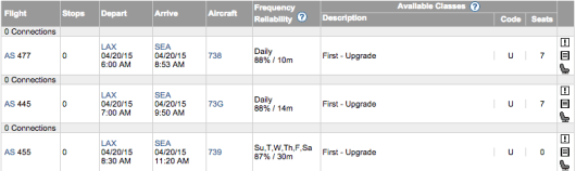 AS upgrade on ExpertFlyer