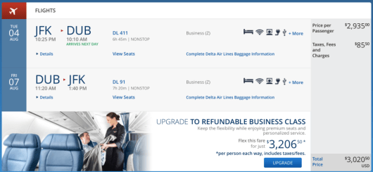 As an example, a round-trip Delta One flight will run you around $3,000+