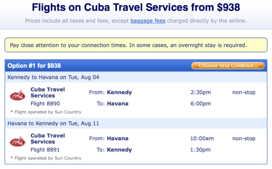 Fly from New York-Havana on a Sun Country charter flight.