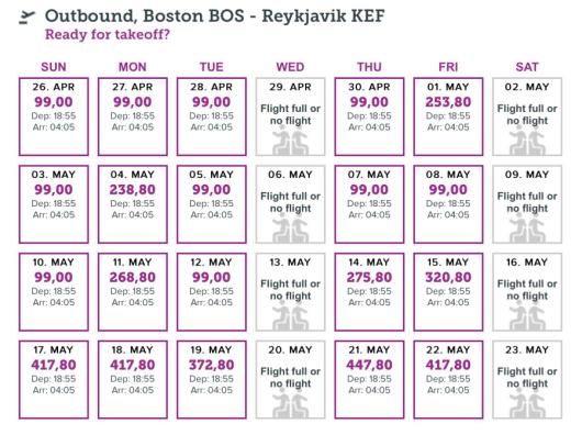 Head from Boston-Reykjavik for $99.