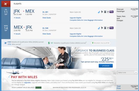 New York-Mexico City on Delta