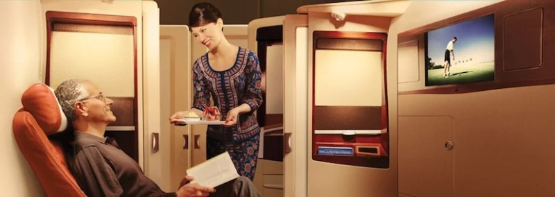 "First-class passengers can ""book the cook."" Photo courtesy of Singapore Airlines."