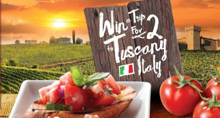Win a trip for two to Tuscany