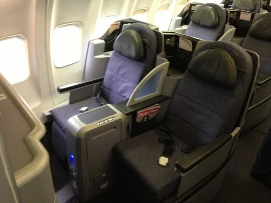 United's BusinessFirst offers seats that turn into 180 degree flatbeds.