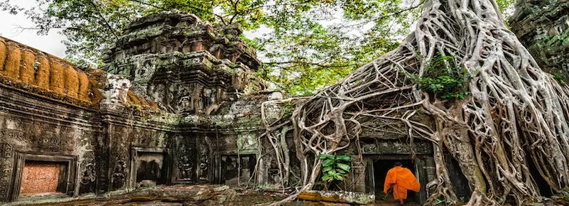 Angkor Wat is a short distance from  Siem Reap Airport. Photo Courtesy of Shutterstock.