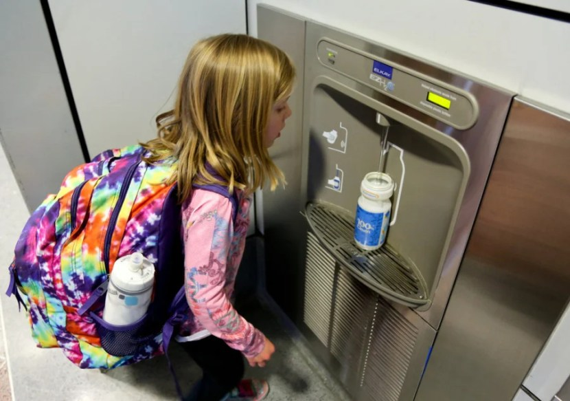 Water refilling station. Photo courtesy of Denver International Airport
