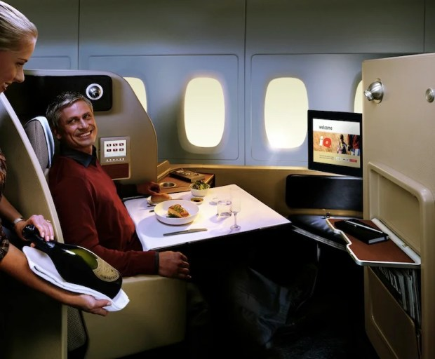 Aussie chef Neil Perry creates the menus for Qantas business and first class.
