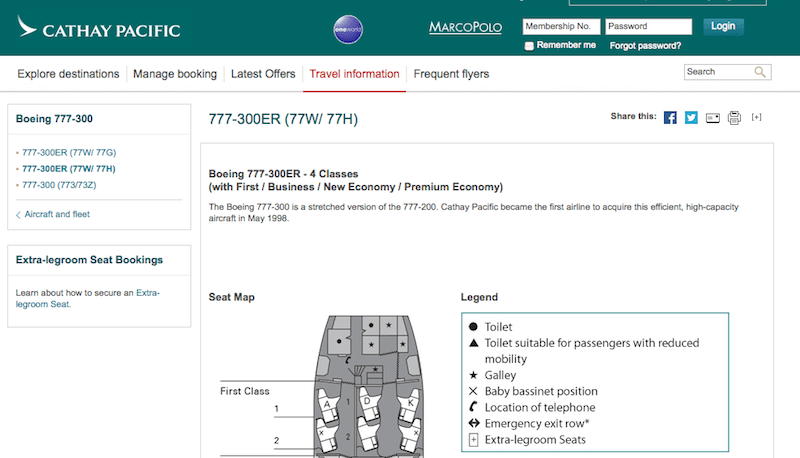 Cathay's 777's only have 6 first class seats to begin with.