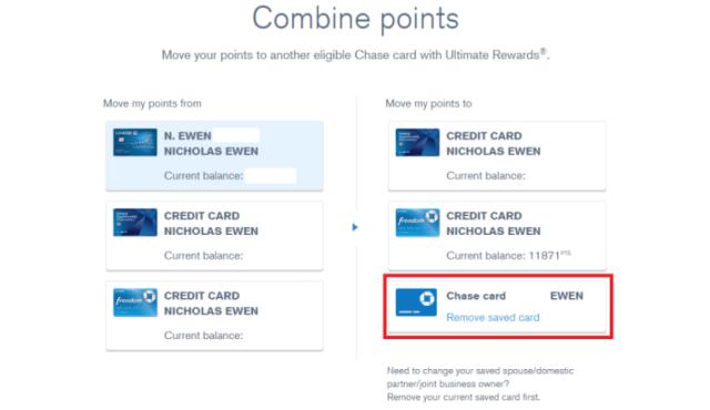 Ultimate Rewards Combine points (Nick) 2