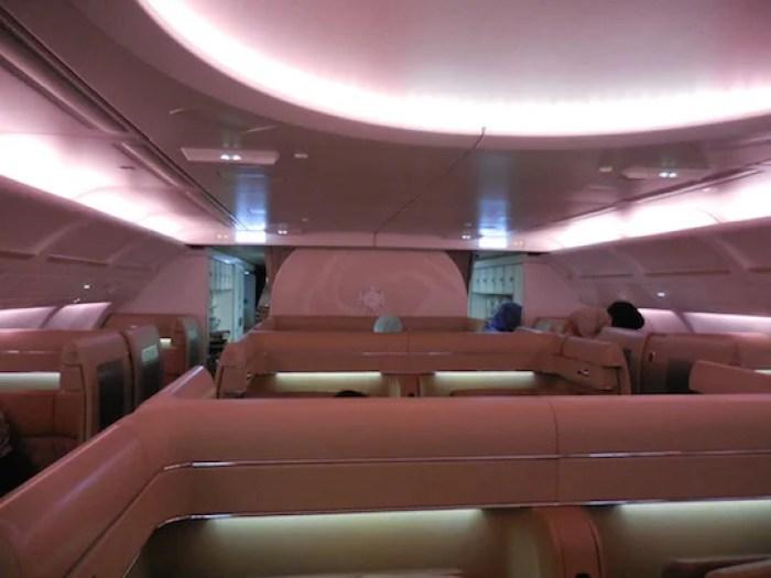 Etihad's A340 Diamond First Class cabin.