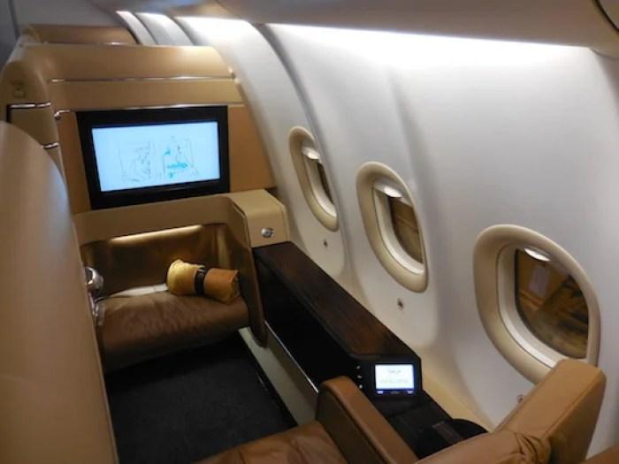 Suite 1K on Etihad's A340-500.