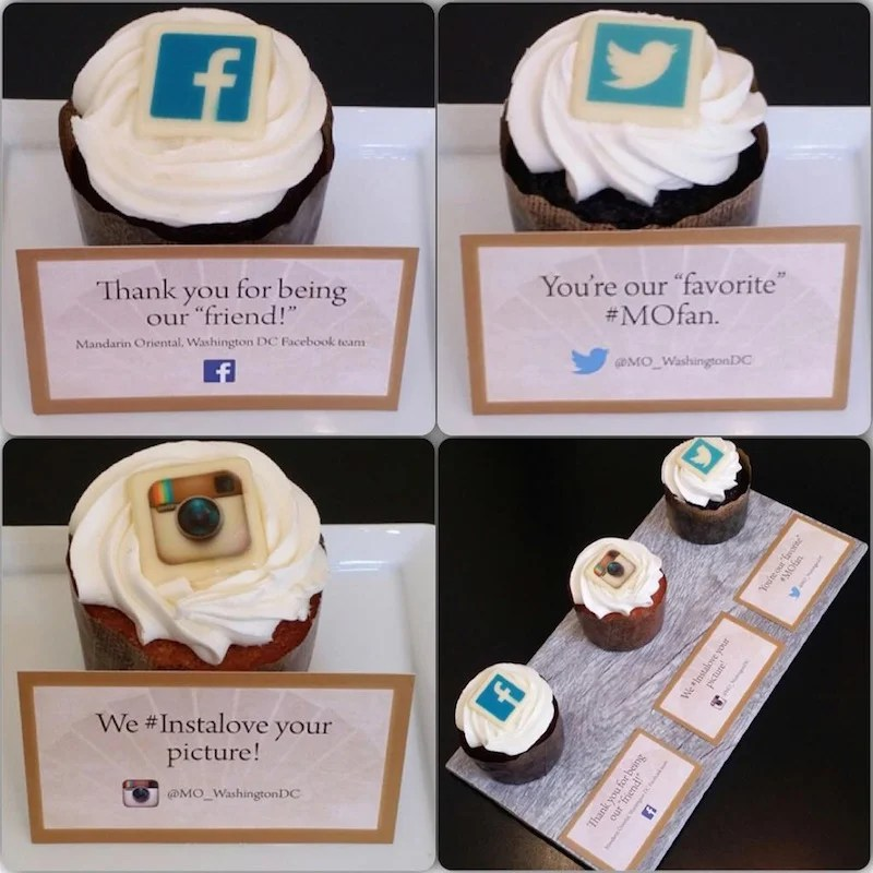 The Mandarin Oriental, Washington DC surprises guests who engage with its social media channels.