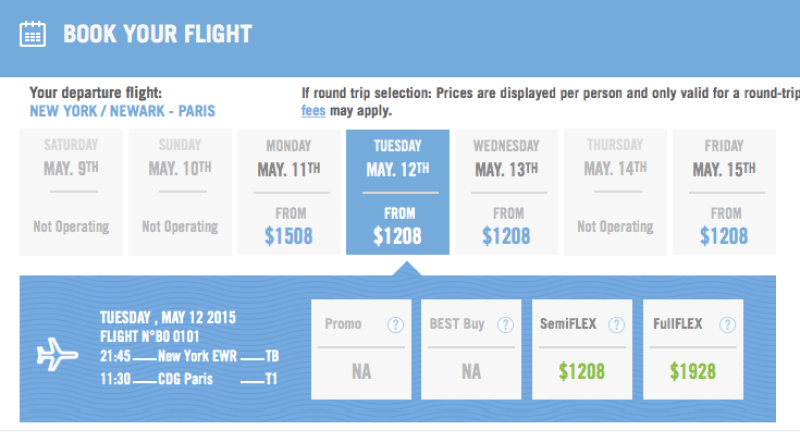 Last-minute prices on La Compagnie