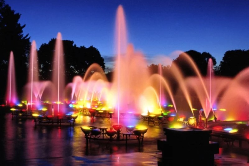 The Longwood Fountains in Philadelphia, PA