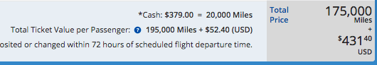 If canceled, Miles + Cash bookings will be refunded entirely in miles based on the ticket value per passenger.