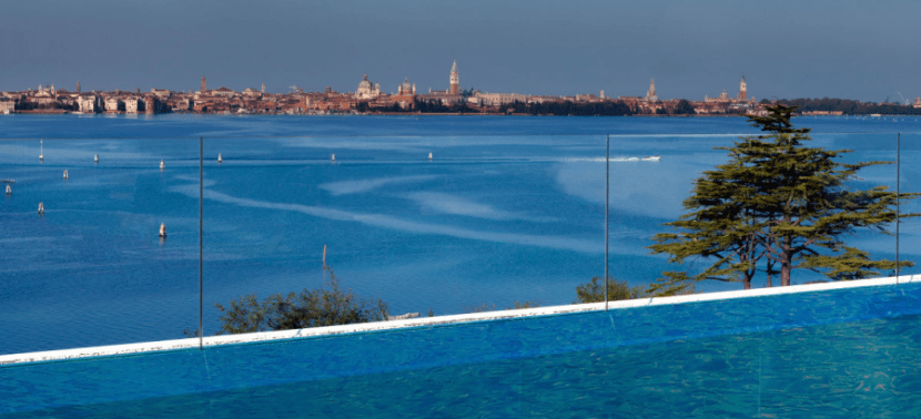 It's hard to imagine a better pool view than that of the J.W. Marriott in Venice.