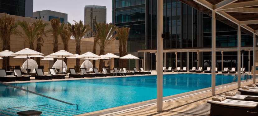 Escape the heat and bustle of Doha at the Marriott Marquis.