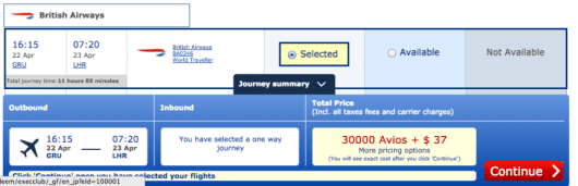 Only $37 in taxes and fees to fly Sao Paulo to London Heathrow on British Airways.