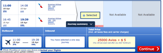 Only $5 in taxes and fees to fly JFK-LAX-HNL.
