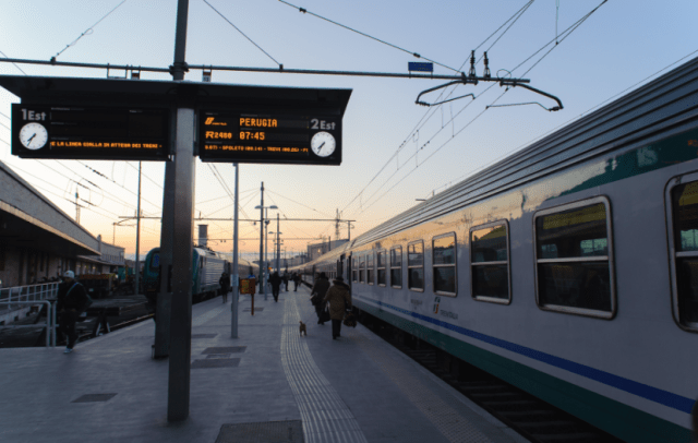 Consider taking the train from Rome if your flight is cancelled.