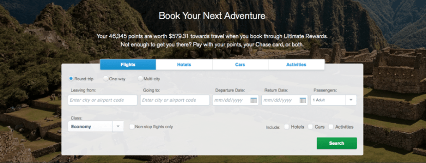 The current Ultimate Rewards balance on my Ink Plus card (46,345 points) would be worth $579.31 toward travel