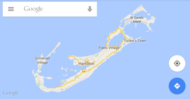 Hotel and restaurant results popped up quickly in Google Maps.