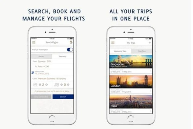 Singapore Airlines has a new app