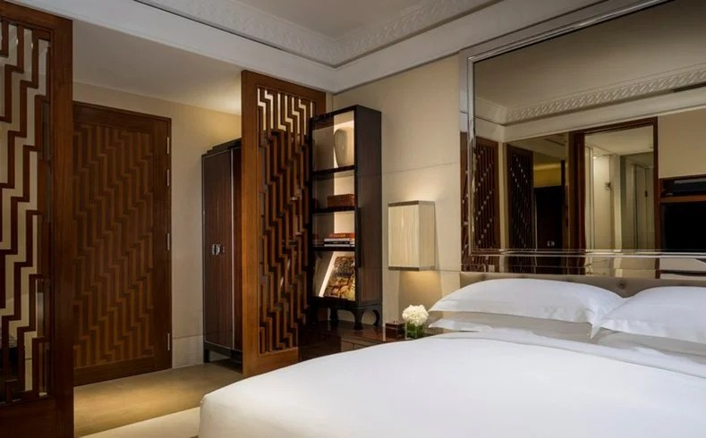 A guestroom at the Patina Singapore.