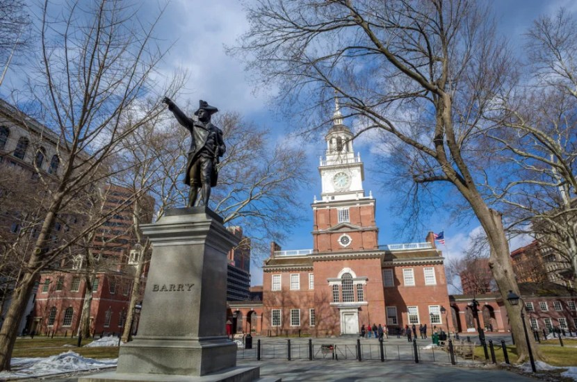 Philadelphia's Independence Hall. Photo courtesy of Shutterstock.
